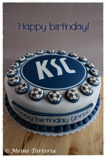 Zum Geburtstag Eine Torte Für Einen Ksc Fan Meine Torteria