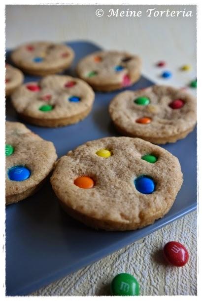 Schokolinsen-Cookies