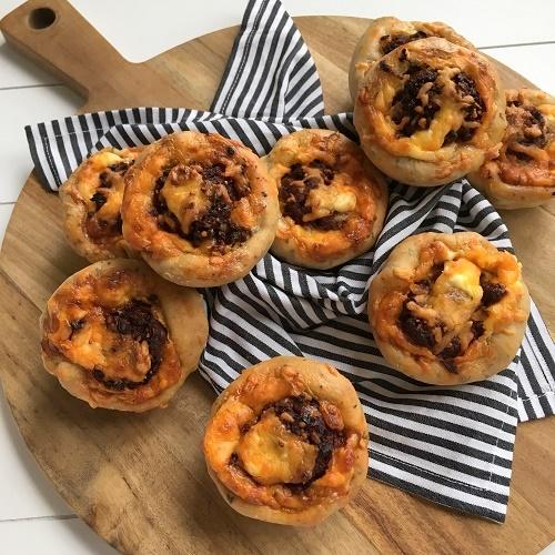 Champignon-Hack-Muffins
