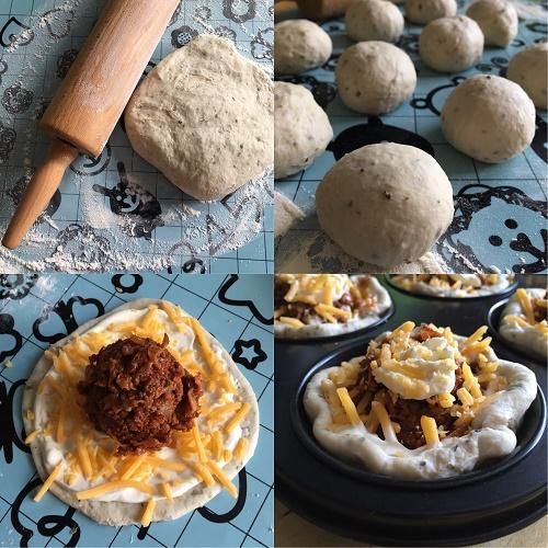Zubereitung Champignon-Hack-Muffins