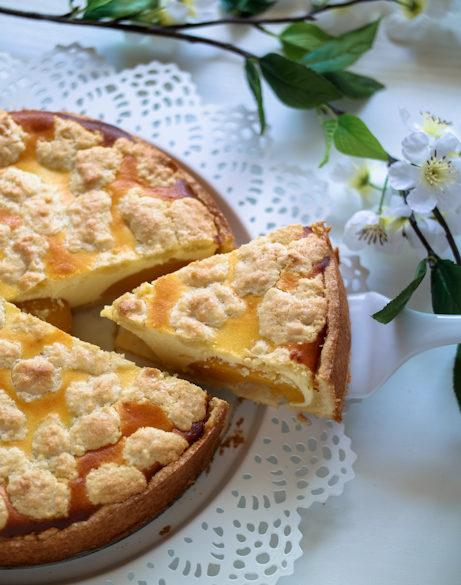 Pfirsichtee-Quark-Torte