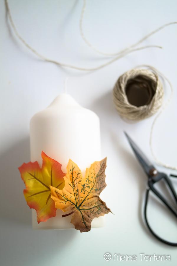 DIY für herbstliche Kerzen