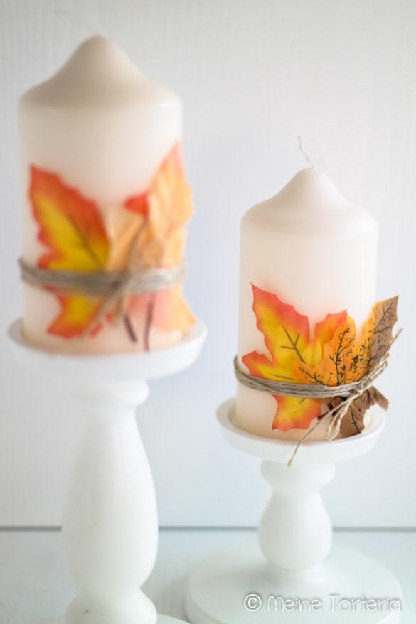 DIY Herbstkerzen