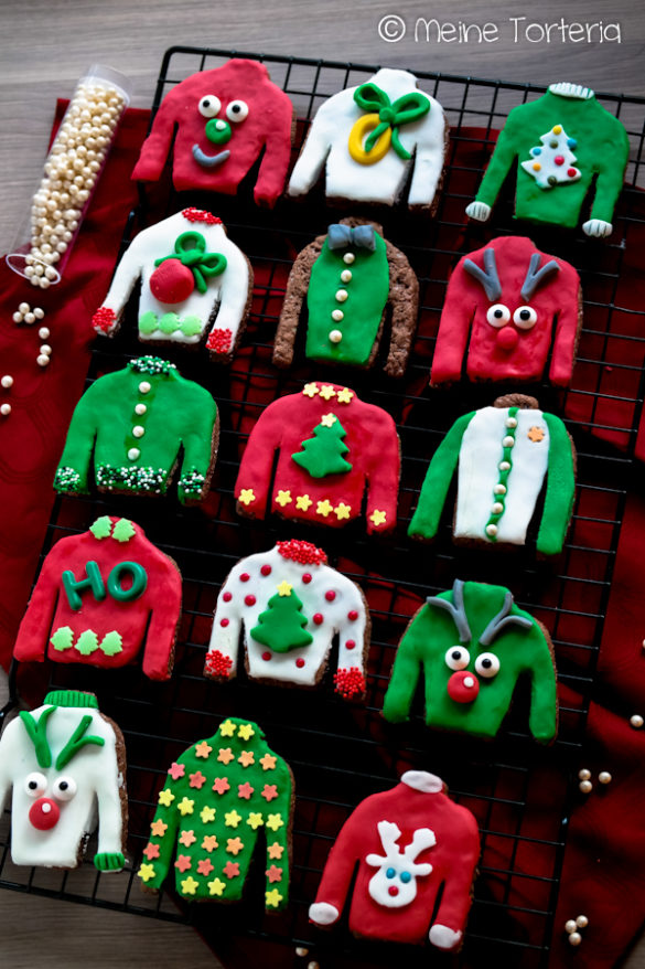 Christmas sweater cookies