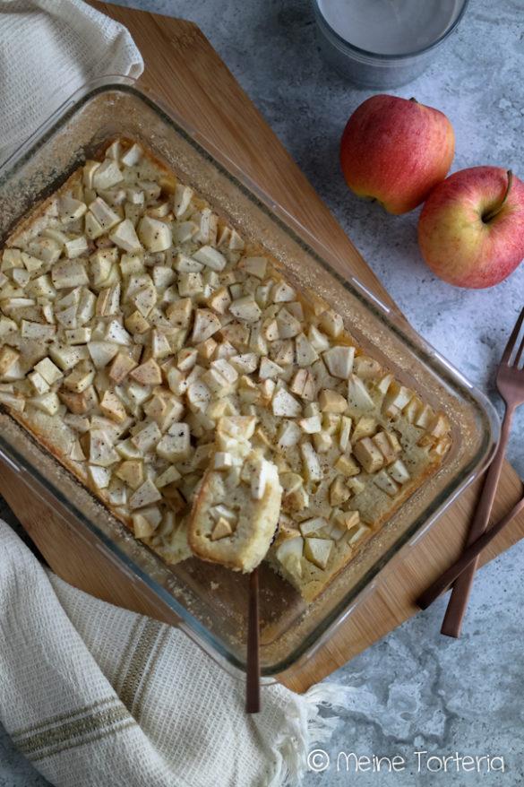 Herbstliches Clafoutis mit Äpfeln