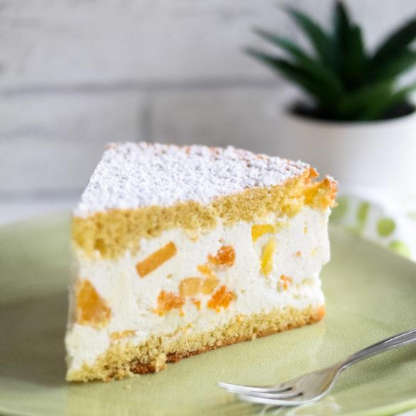 Käsesahnetorte mit Mango und Mandarine