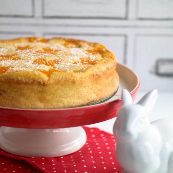 Grieß-Kaesekuchen mit Skyr und Mandarinen